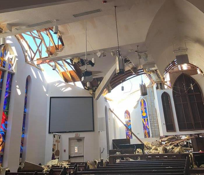 Church Ceiling Blown Off
