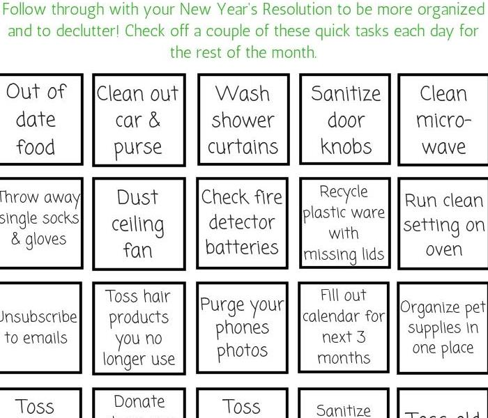 Commercial SERVPRO's New Year's Cleaning Challenge